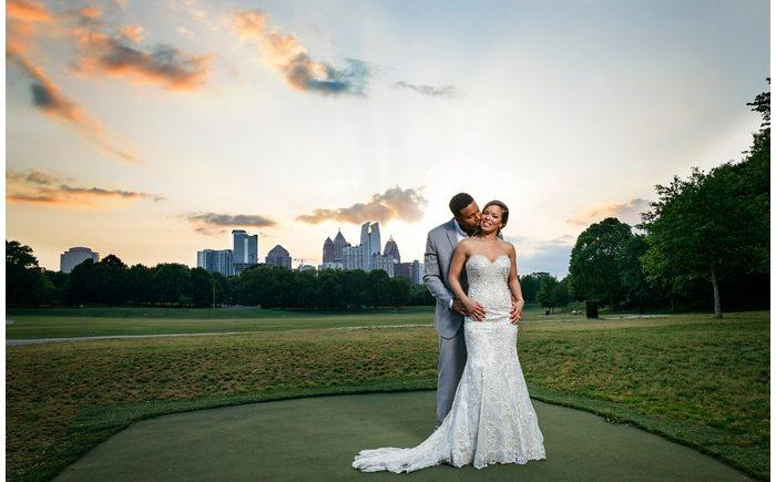 Lori And Craig S Spring Wedding Was Held At One Of Our Favorite Atlanta Venues The Piedmont Room Which Offers Sweeping Views Park