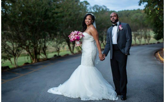 Joy & Danny\'s Pink + Gold Birmingham Wedding at Hoover Country Club