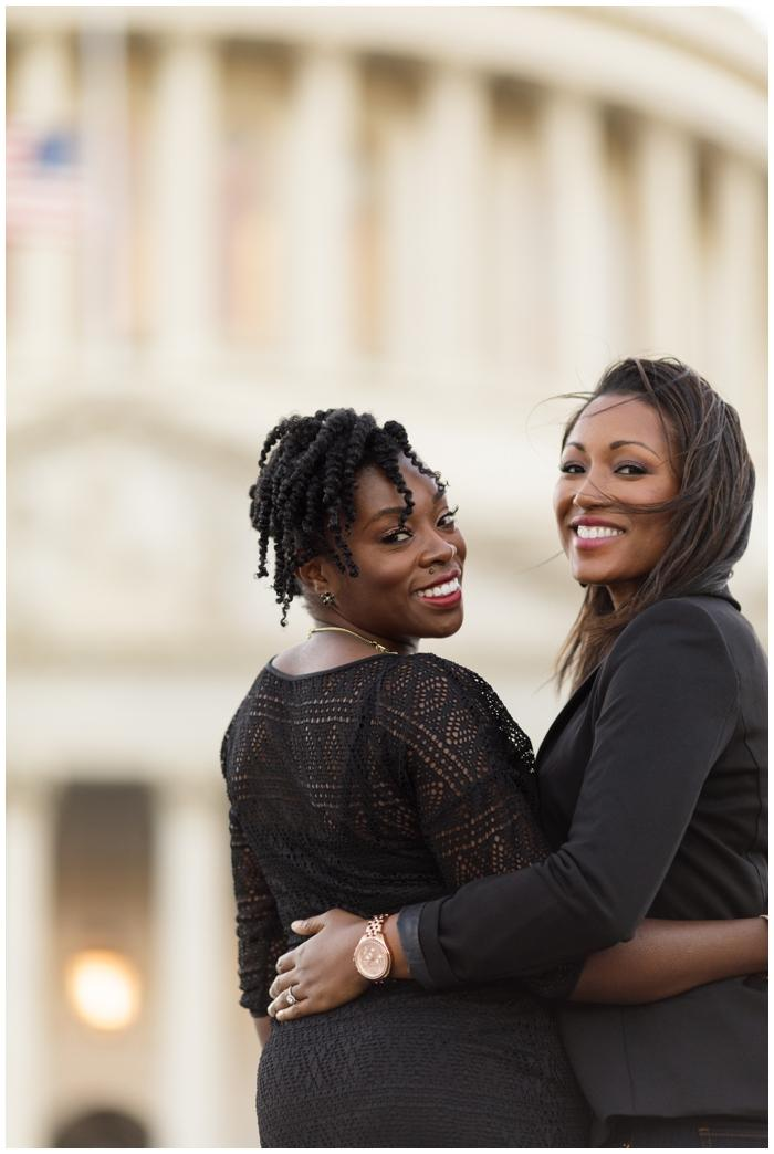 Ladies in love engagement session